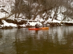 winter time kayak